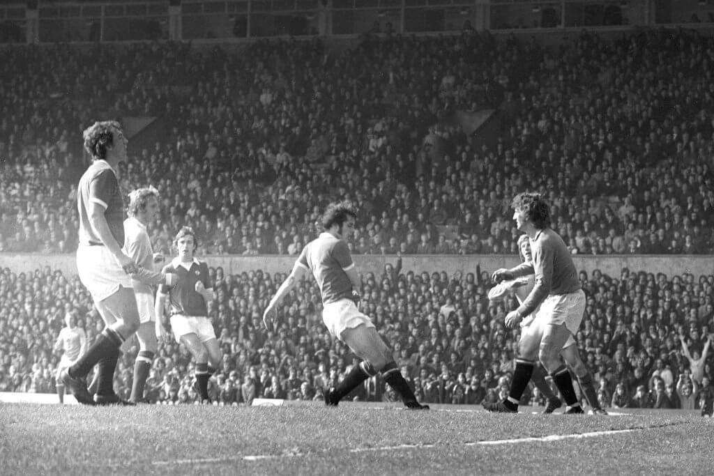 Denis Law Manchester derby