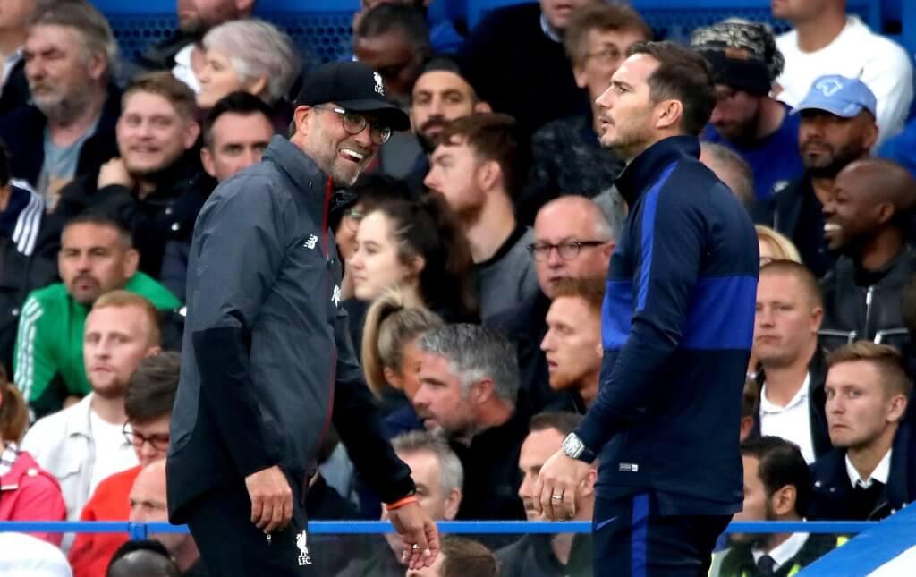 Lampard Klopp Chelsea v Liverpool