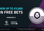 Play our Free to Play Predict & Win for £5000 in free bets!
