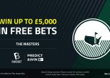 The Masters: Play our Free to Play Predict & Win for £5000 in free bets!