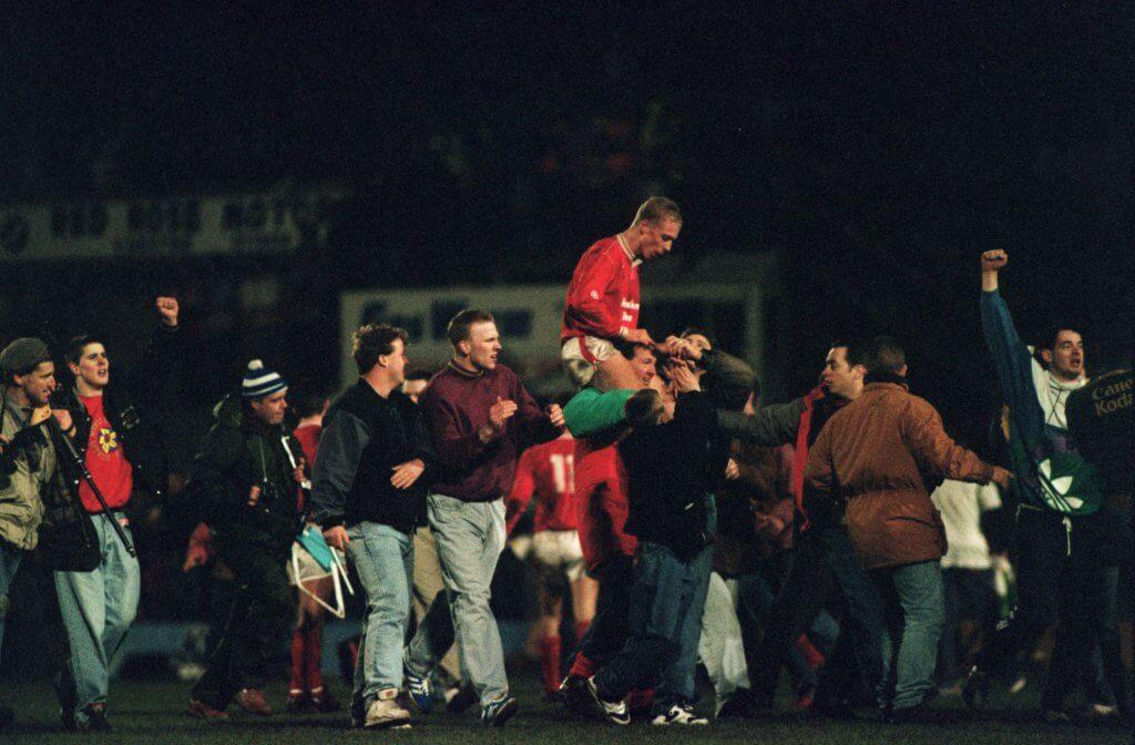 Wrexham v Arsenal 1992